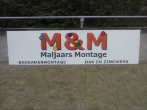 Reclamebord M&M