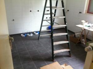 Nieuwe vloer keuken